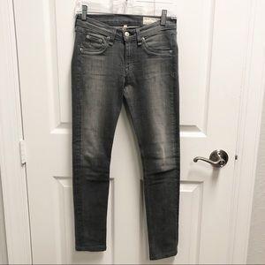 Rag and Bone Gray Skinny Jeans Size 26